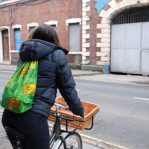 African Cloth Bike Bag