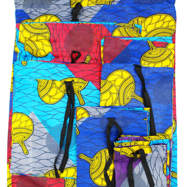 African Cloth Shopping Bag set
