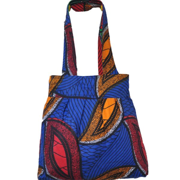 African Pleated Cloth Tote Bag