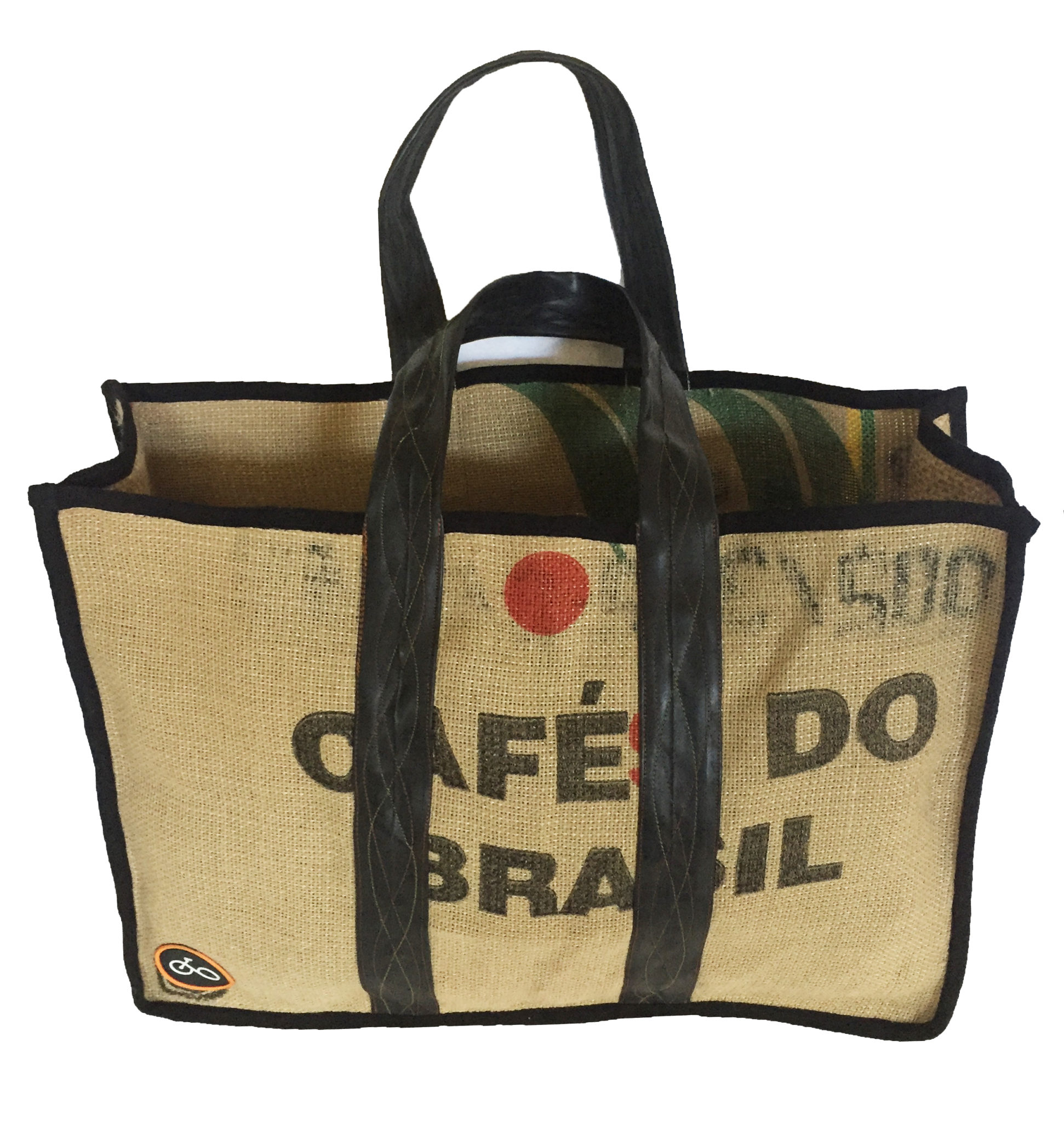 Coffee sack duffel purse