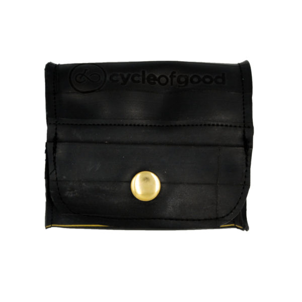 recycled inner tube pop up vegan purse