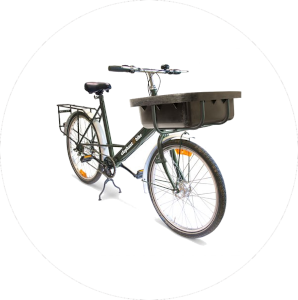 bike with tray