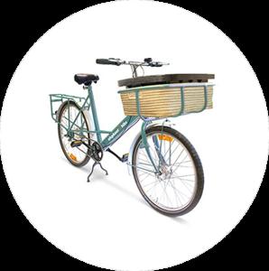 Bike with tray & basket