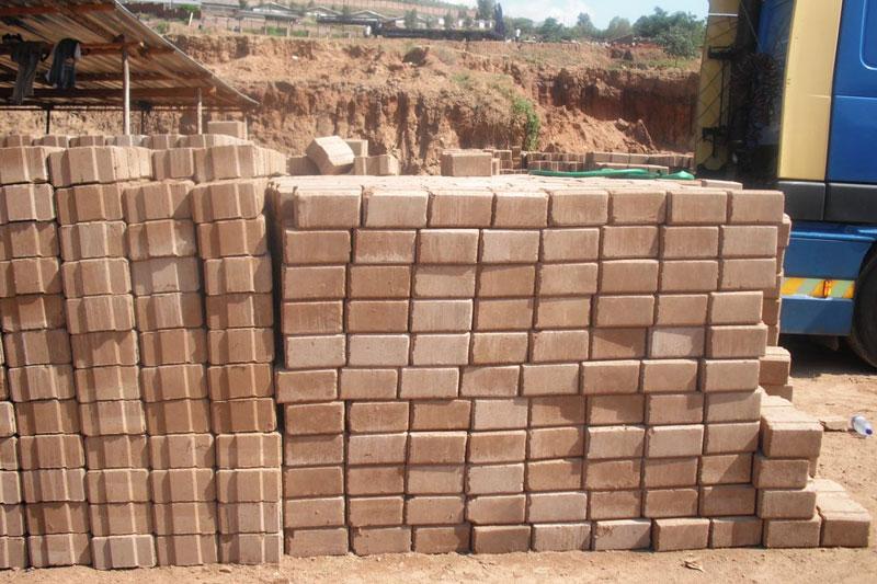 bricks drying